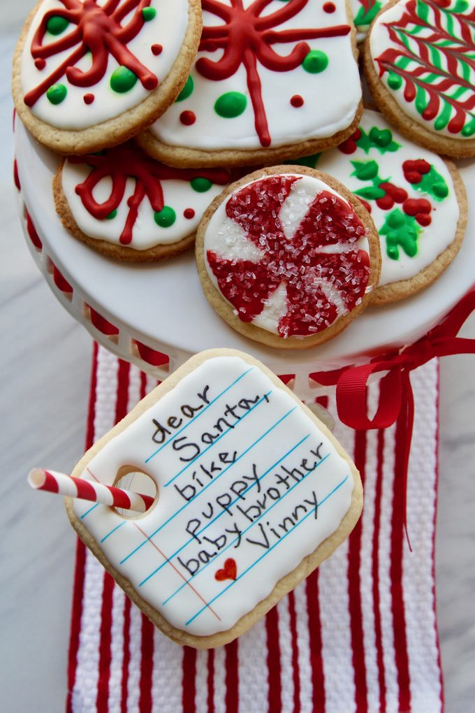 Christmas Cookies List  Santa s Cookies and Milk Kids can write their wish list
