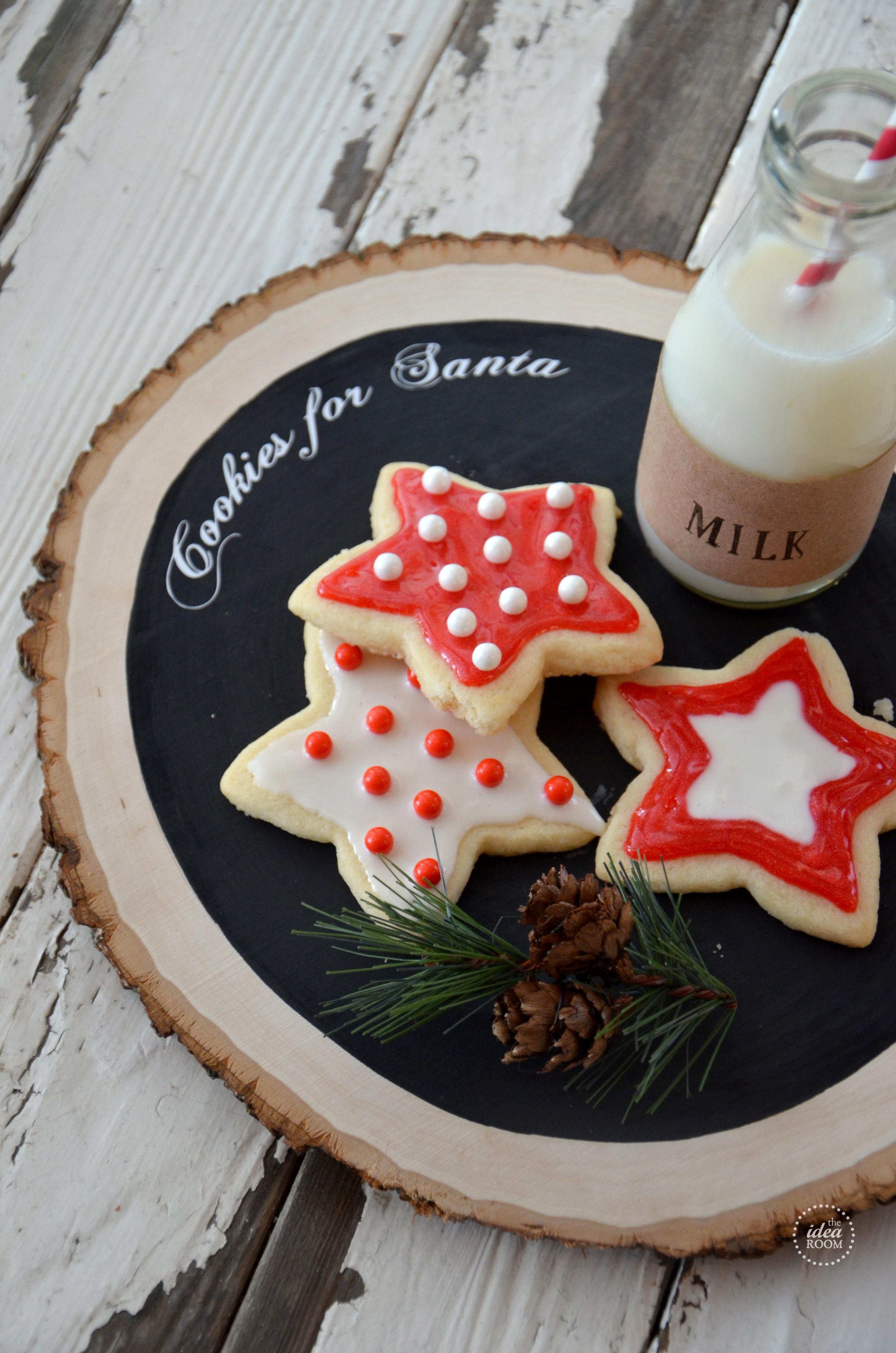 Christmas Cookies Plates  Cookies For Santa The Idea Room