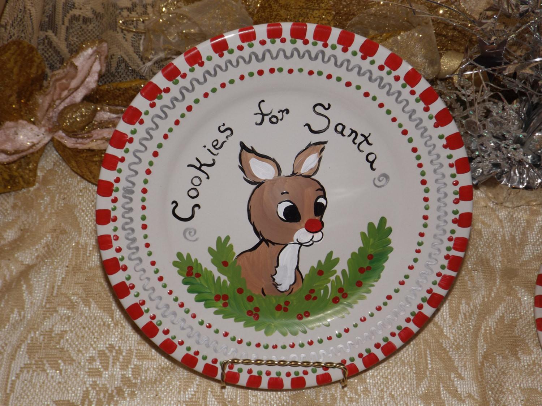 Christmas Cookies Plates  Cookies for Santa plate Santa s cookie plate Christmas
