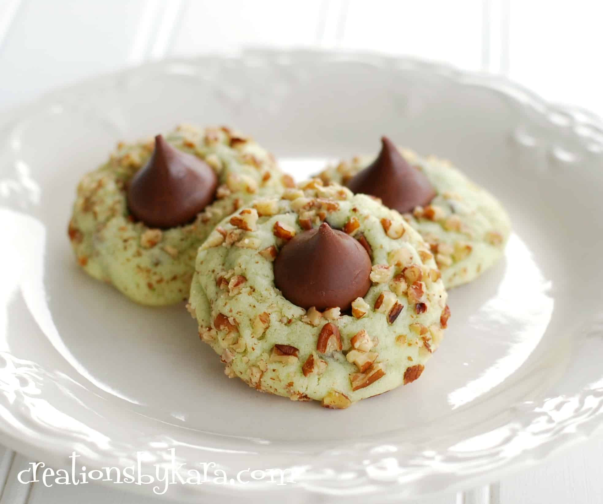 Christmas Cookies Recipe  Pistachio kiss cookies