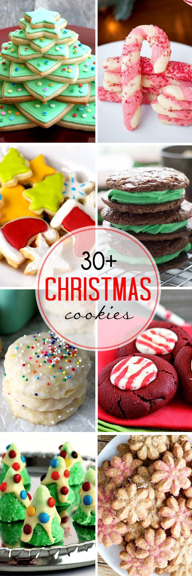 Christmas Cookies Recipe Pinterest  100 Christmas Cookie Recipes on Pinterest