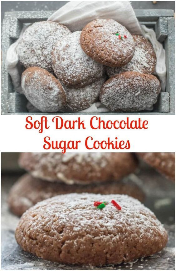 Christmas Cookies Recipe Pinterest  Chocolate Sugar Cookies are the perfect Christmas Cookie