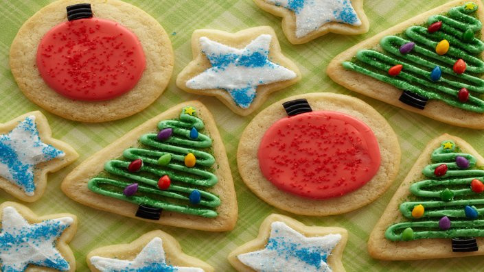 Christmas Cookies Recipes Food Network  Iced Sugar Christmas Cookies Recipes
