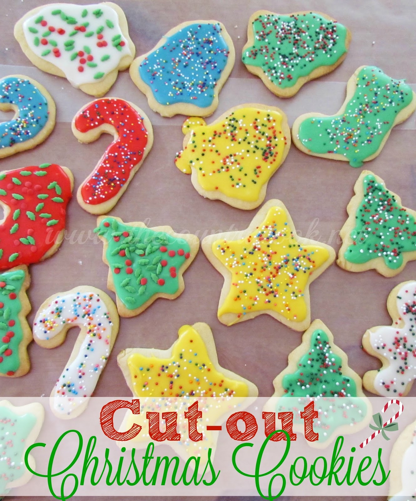 Christmas Cookies Sugar Cookies  Cut Out Sugar Cookies The Country Cook