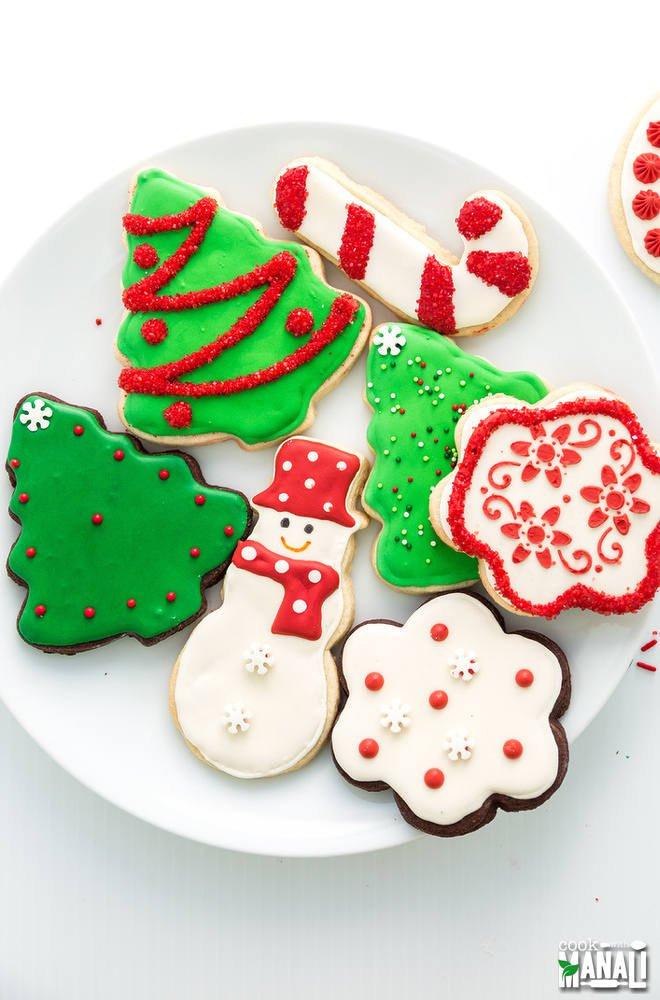 Christmas Cookies Sugar Cookies  Christmas Sugar Cookies Cook With Manali