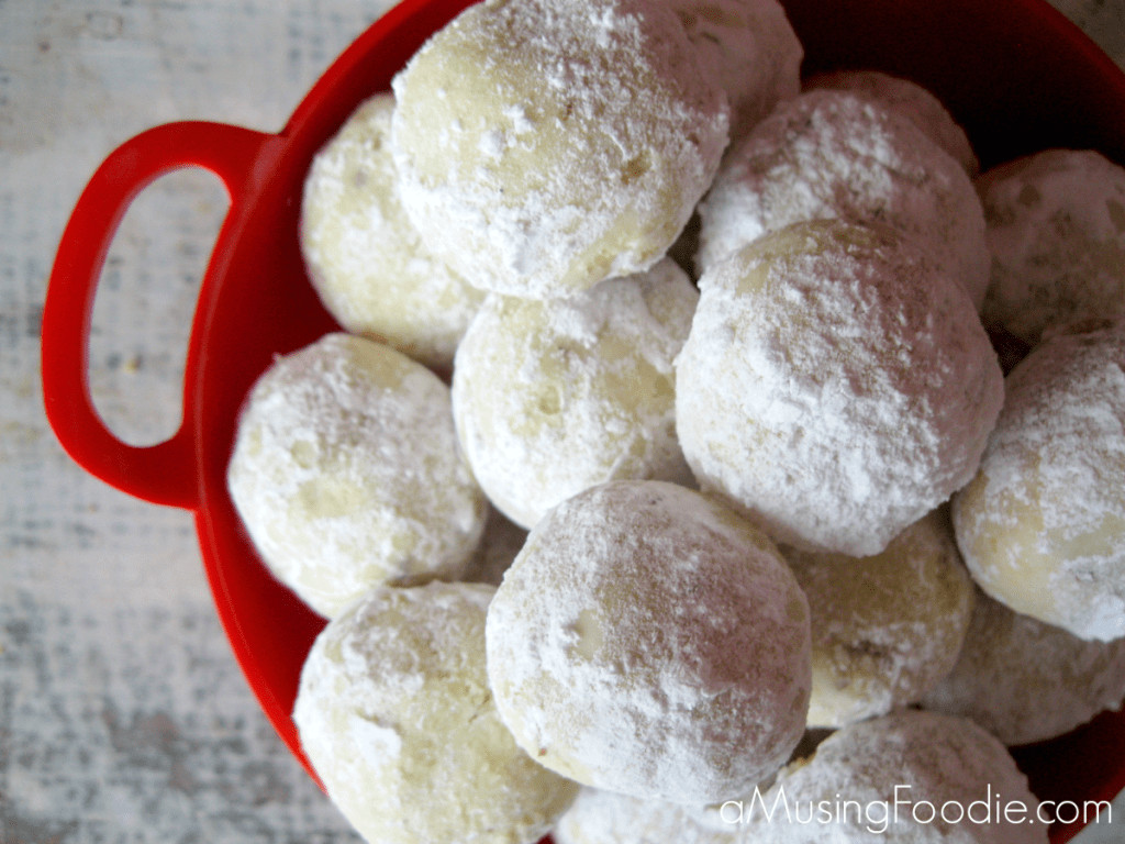 Christmas Cookies With Powdered Sugar  Almond Lime Snowball Cookies a Musing Foo