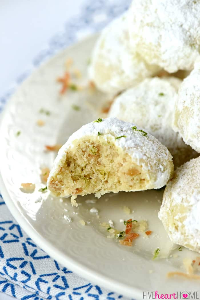 Christmas Cookies With Powdered Sugar  Lime Coconut Snowball Cookies Over 100 More Christmas