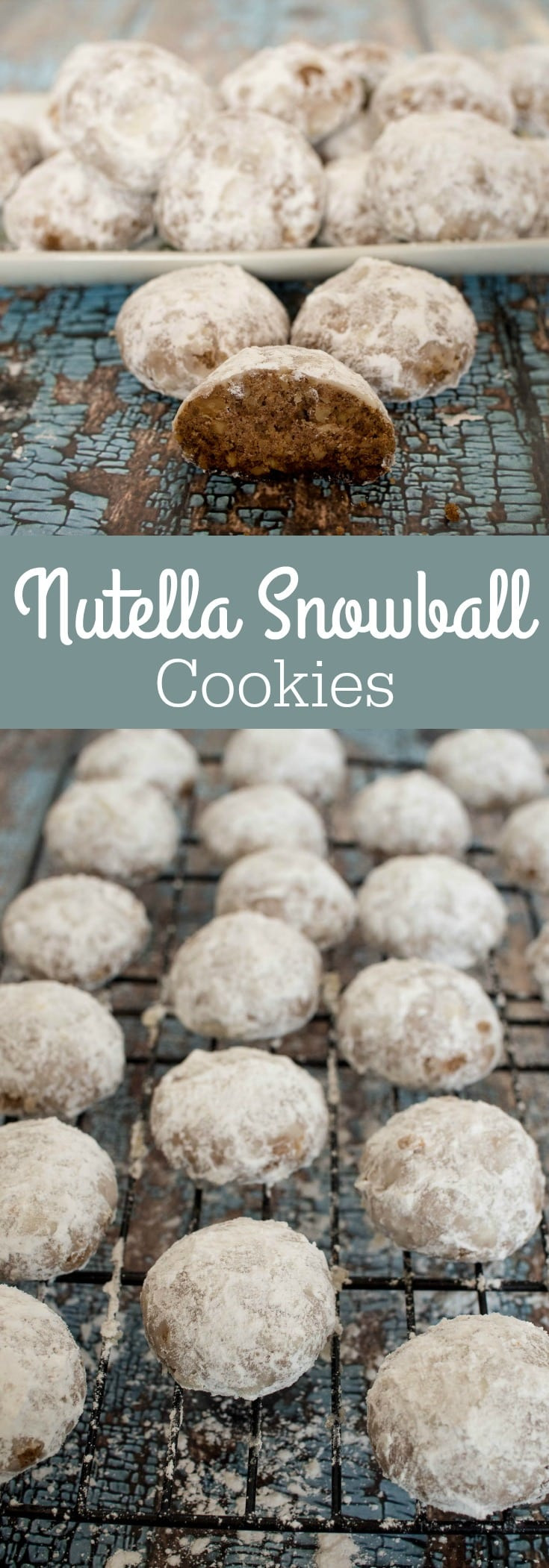 Christmas Cookies With Powdered Sugar  Nutella Snowball Cookies