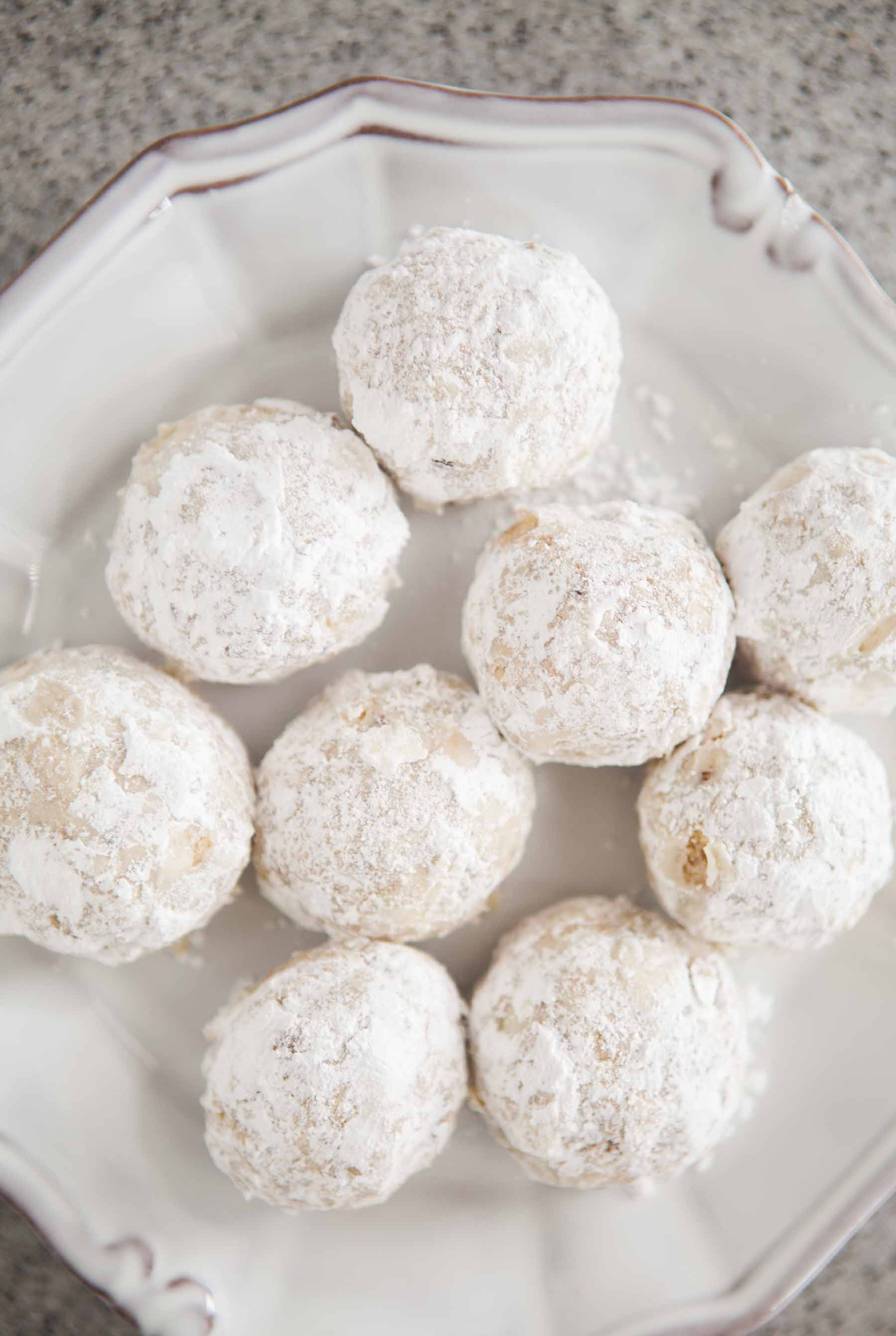 Christmas Cookies With Powdered Sugar  Walnut Snowball Cookies Recipe