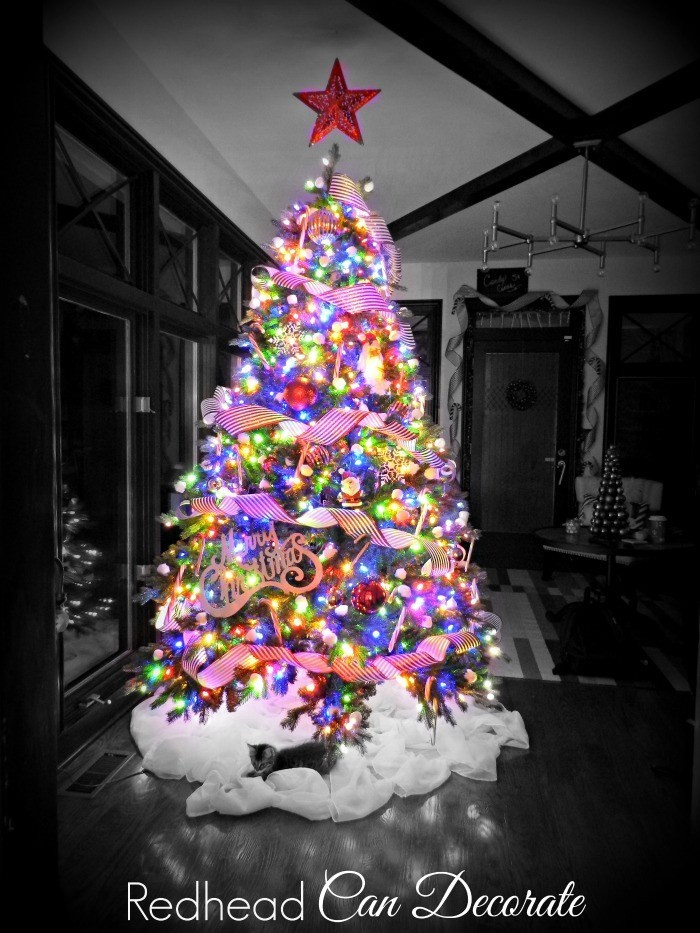 Christmas Cotton Candy  Cotton Candy Cane Christmas Tree Redhead Can Decorate