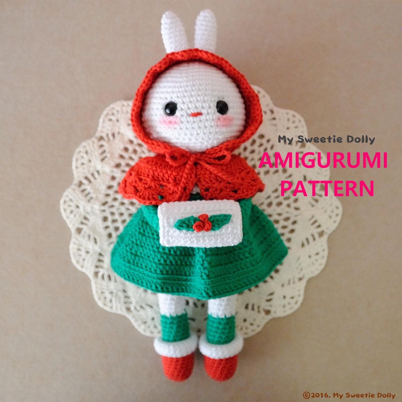 Christmas Cotton Candy  Cotton Candy Bunny Christmas AMIGURUMI PDF PATTERN