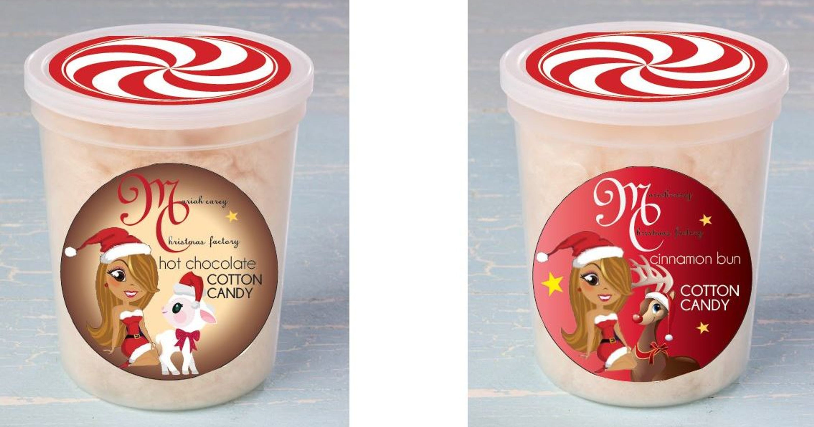 Christmas Cotton Candy  Mariah Carey collection features Iowa cotton candy