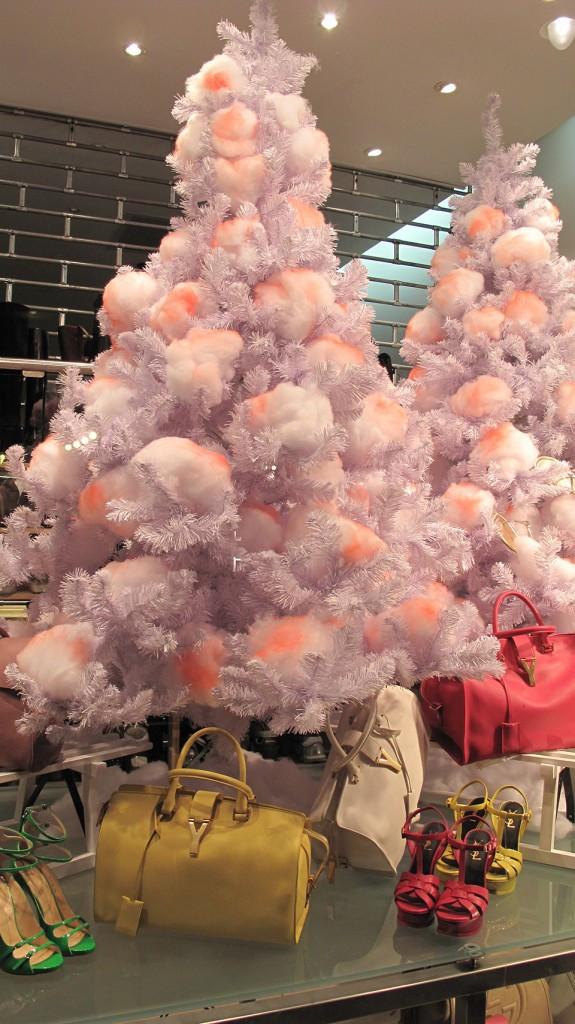 "Christmas Cotton Candy  Paul Warmer ""Cotton Christmas Tree"" Holiday Window Display"