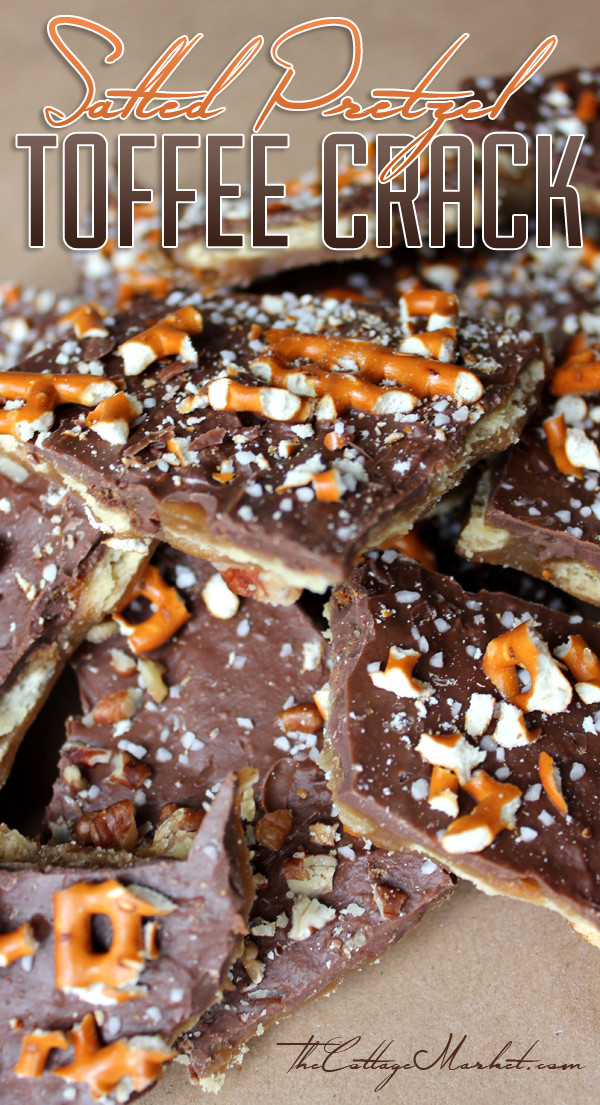 Christmas Crack Recipe With Pretzels  Salted Pretzel Toffee Crack The Cottage Market