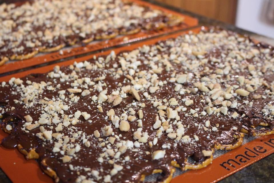 Christmas Crack Recipe With Pretzels  Salted Chocolate Toffee Pretzel Bark aka Christmas Crack