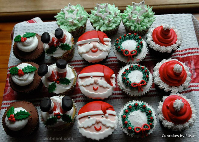Christmas Cupcakes Ideas  25 Beautiful Christmas Cupcake Decorating ideas for your