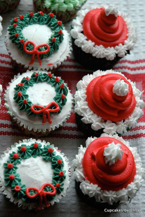 Christmas Cupcakes Ideas  30 Easy Christmas Cupcake Ideas