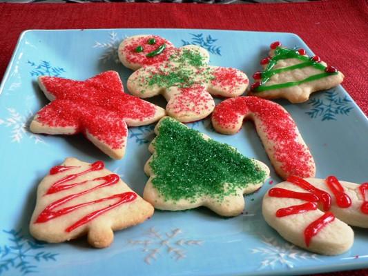 Christmas Cutout Cookies  Christmas Cutout Sugar Cookies Recipe Food Network