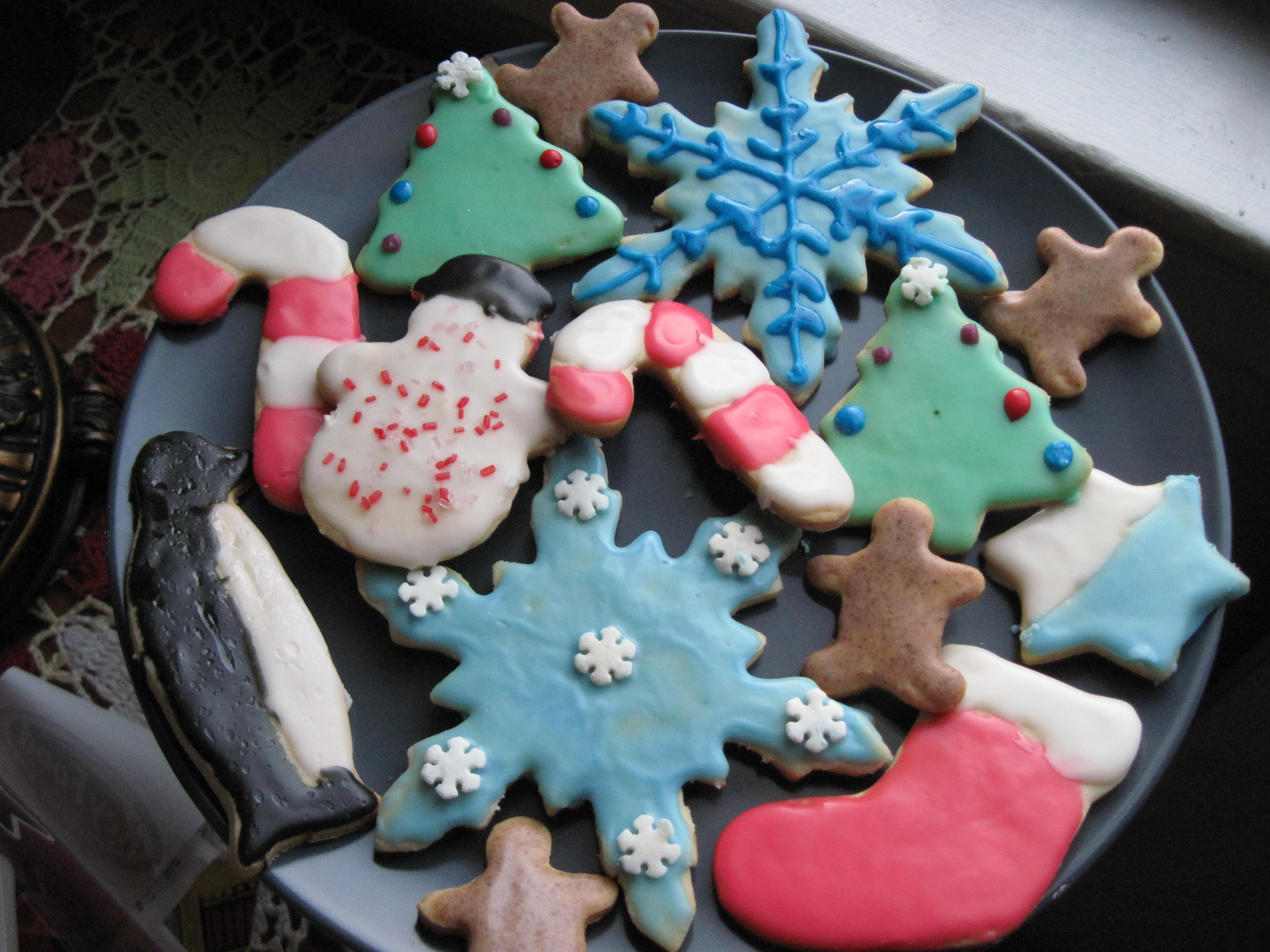 Christmas Cutout Cookies  File Christmas sugar cookies January 2010 Wikimedia