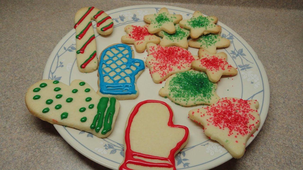 Christmas Cutout Cookies  Simple Sugar Cookie Cutout Recipe Christmas Cookie