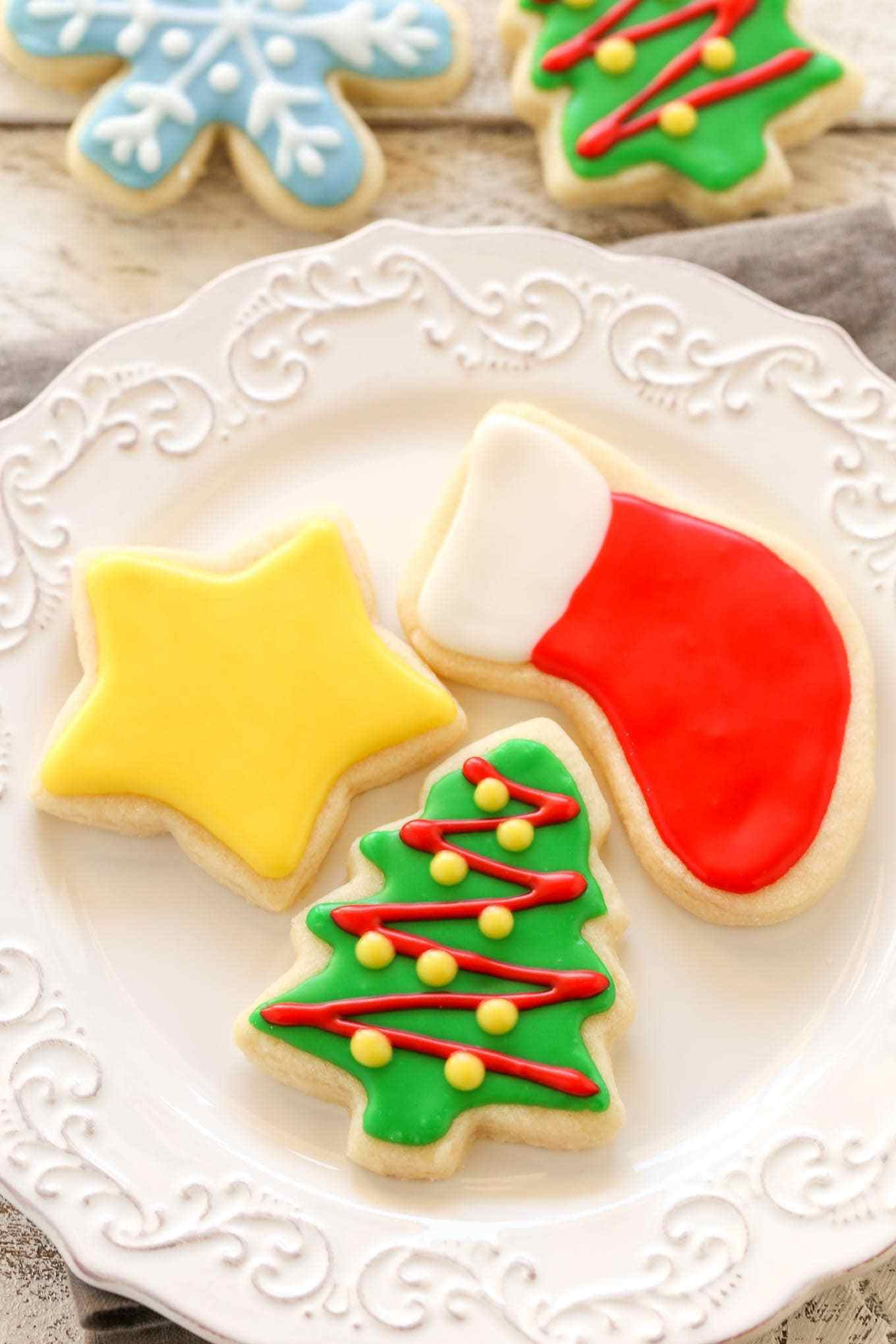Christmas Cutout Cookies  Soft Christmas Cut Out Sugar Cookies Live Well Bake ten