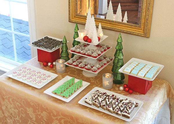 Christmas Dessert Table  The Beautiful Plate Holiday Food Presentation Tips