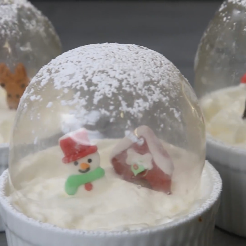 Christmas Desserts 2019  Edible Snowglobes WINTER FUN in 2019