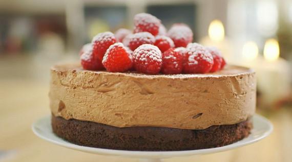 Christmas Desserts Mary Berry  Mary Berry celebration chocolate mousse cake recipe on