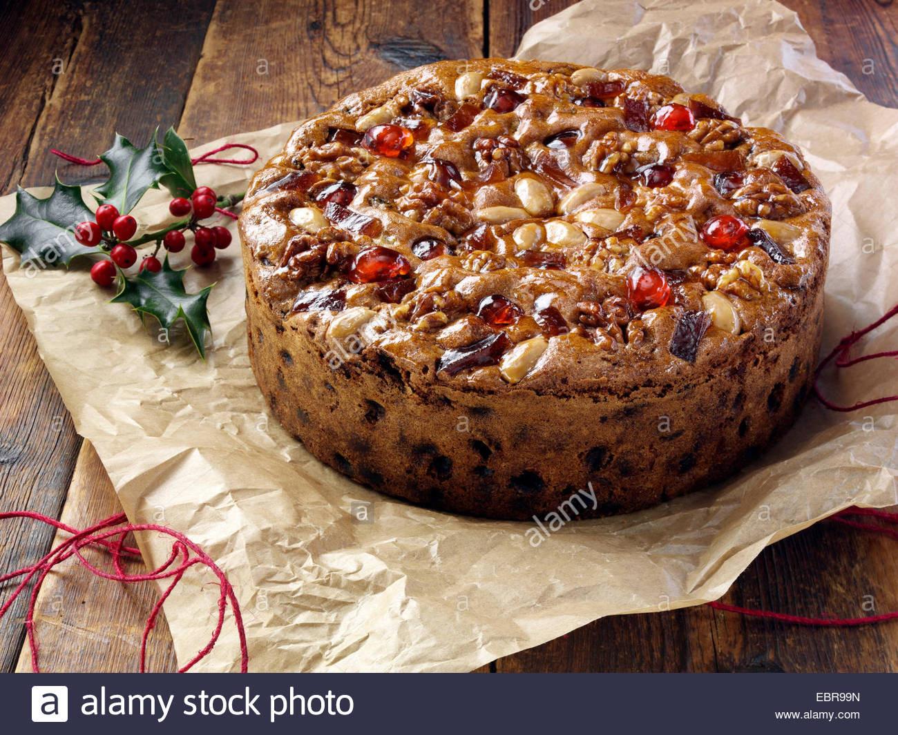 Christmas Desserts Mary Berry  Mary Berry Genoa fruit cake for Christmas Stock