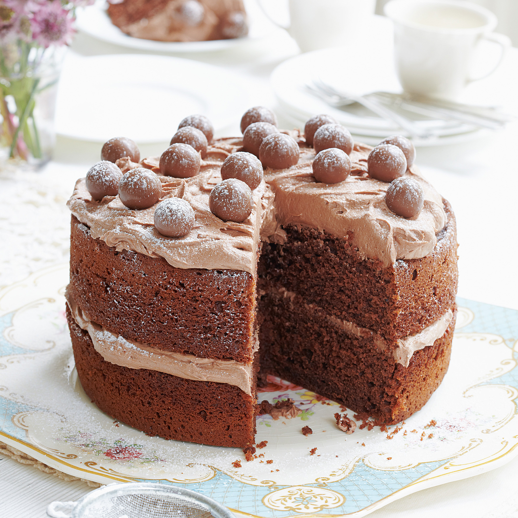 Christmas Desserts Mary Berry  Mary Berry recipes Malted Chocolate Cake Woman And Home
