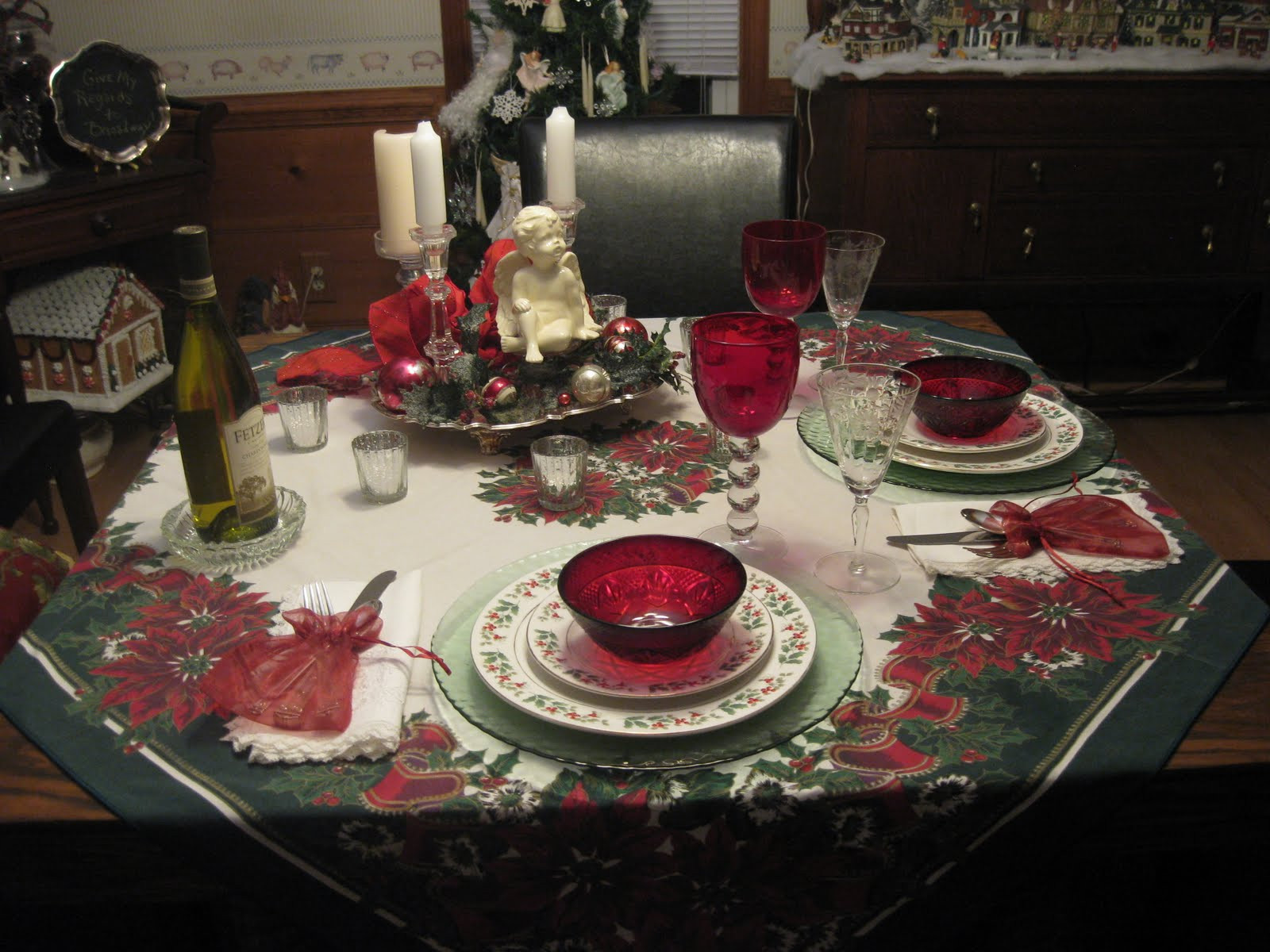 Christmas Dinner For Two  Mid Atlantic Martha Tablescapes of Christmas Past