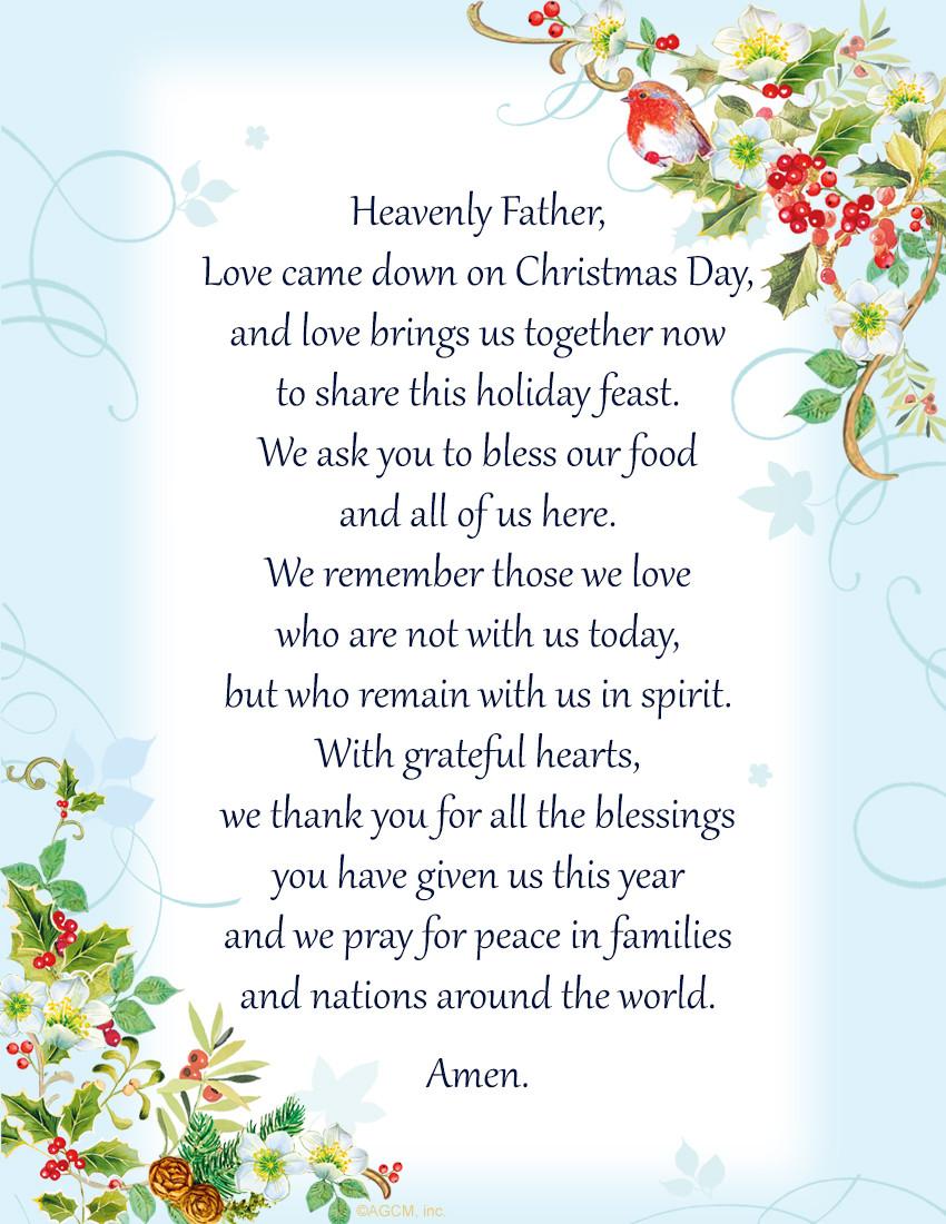 Christmas Dinner Prayers Short  Christmas Bible Verses & Blessings