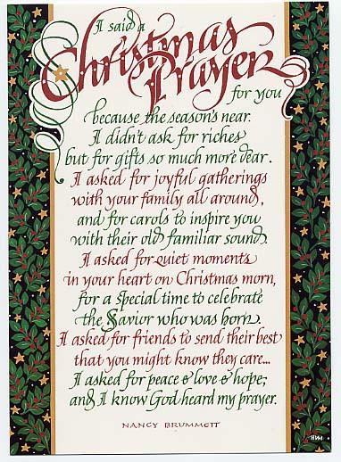 Christmas Dinner Prayers Short  Velvet Over Steel Christmas Prayers
