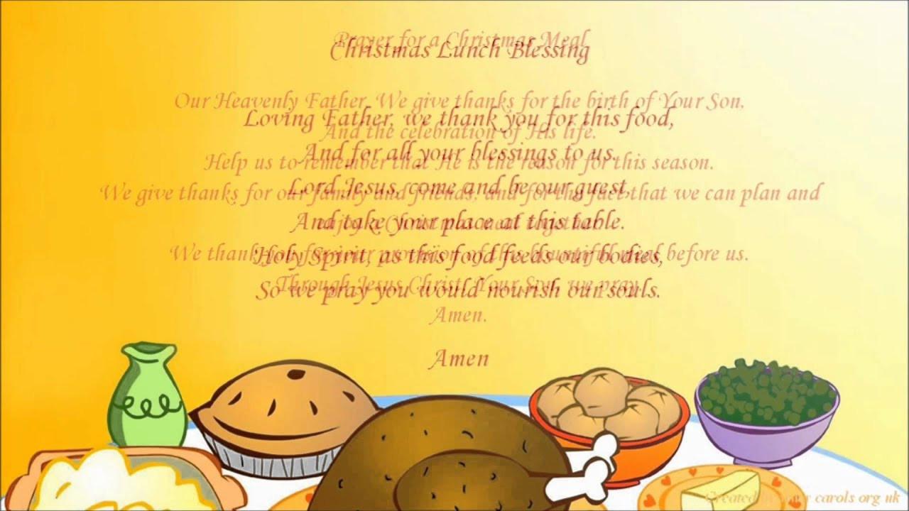Christmas Dinner Prayers Short  Christmas Dinner Prayers
