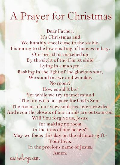 Christmas Dinner Prayers Short  A Prayer for Christmas Day RachelWojo