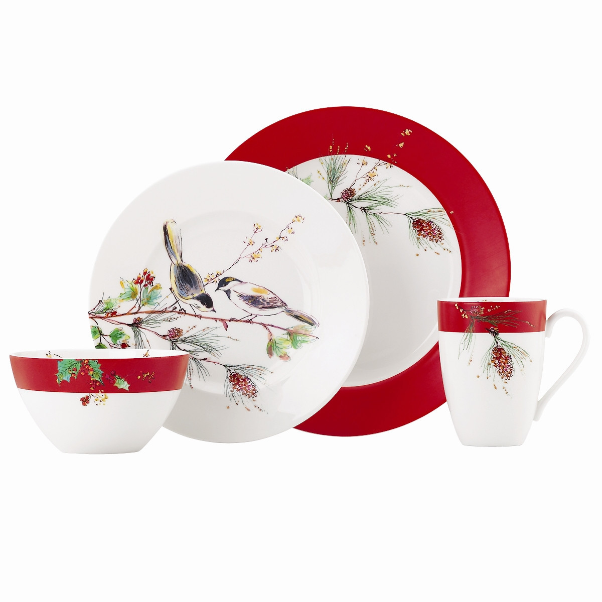 "Christmas Dinner Set  Lenox Winter Song 9"" Accent Plate & Reviews"