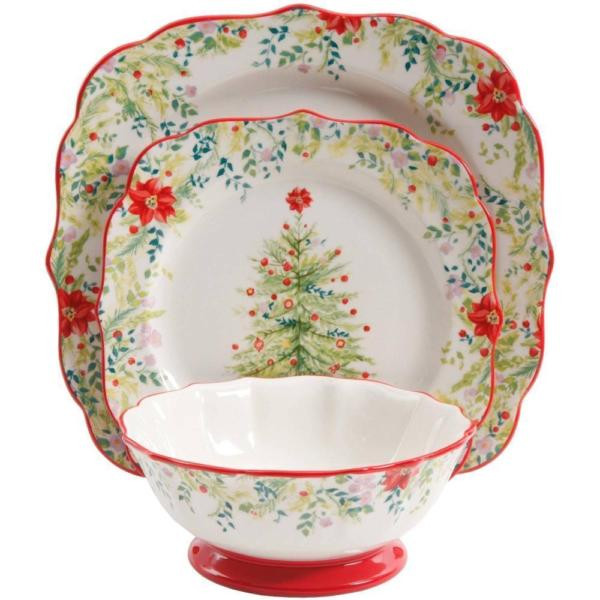 Christmas Dinner Set  12 Piece Dinnerware Set The Pioneer Woman Holiday