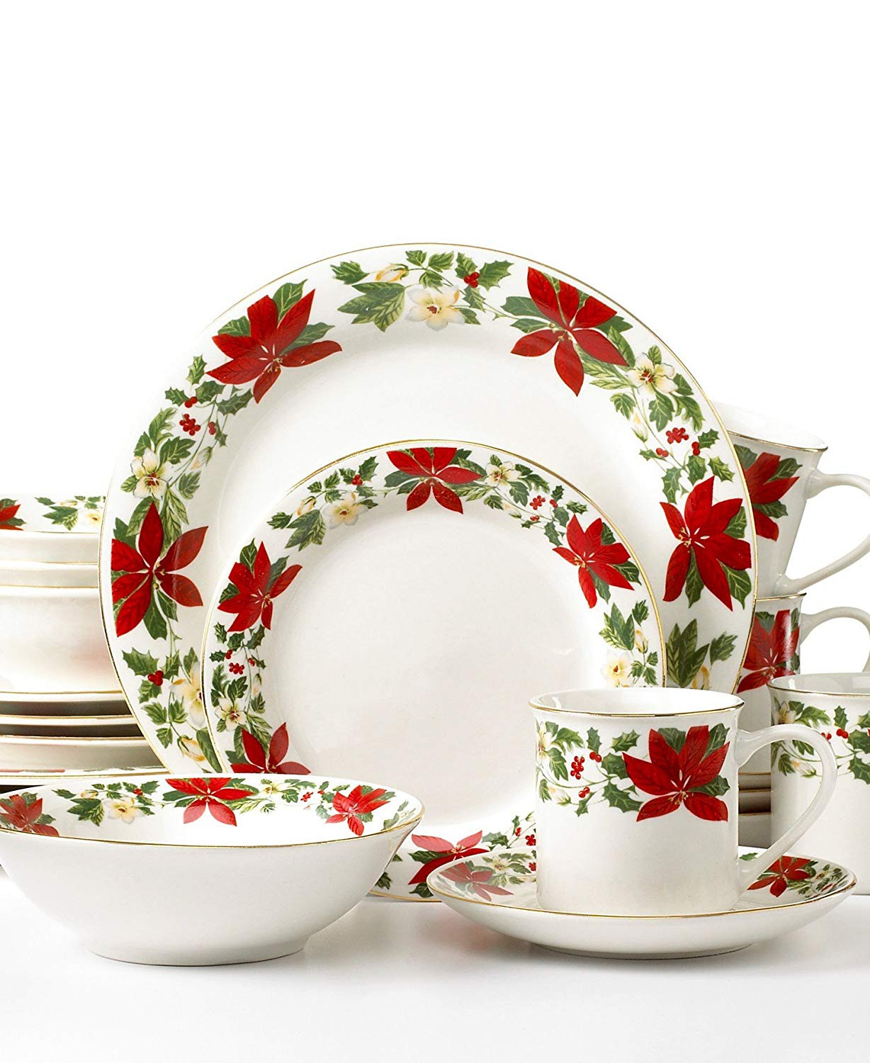 Christmas Dinner Set  Best Rated Christmas Holiday Dinnerware Sets Sale