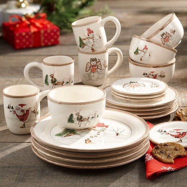 Christmas Dinner Set  Shop American Atelier Christmas 20 piece Dinner Set