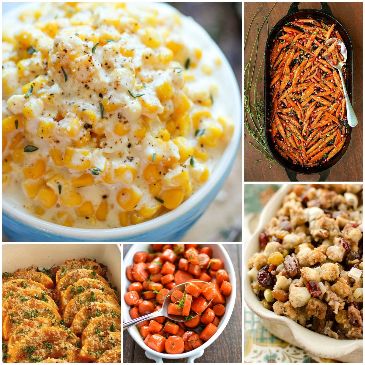 Christmas Dinner Side Dishes Food Network  25 Most Pinned Side Dish Recipes for Thanksgiving and