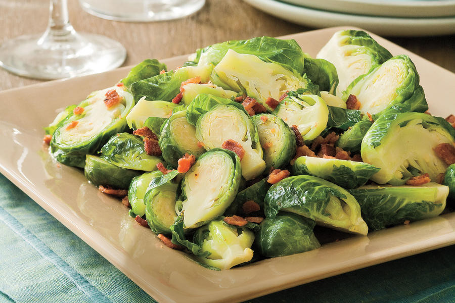Christmas Dinner Side Dishes Food Network  Bacon Brown Sugar Brussels Sprouts Best Thanksgiving