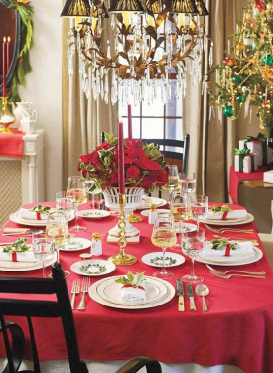 Christmas Dinner Table  20 MOST AMAZING CHRISTMAS TABLE DECORATIONS