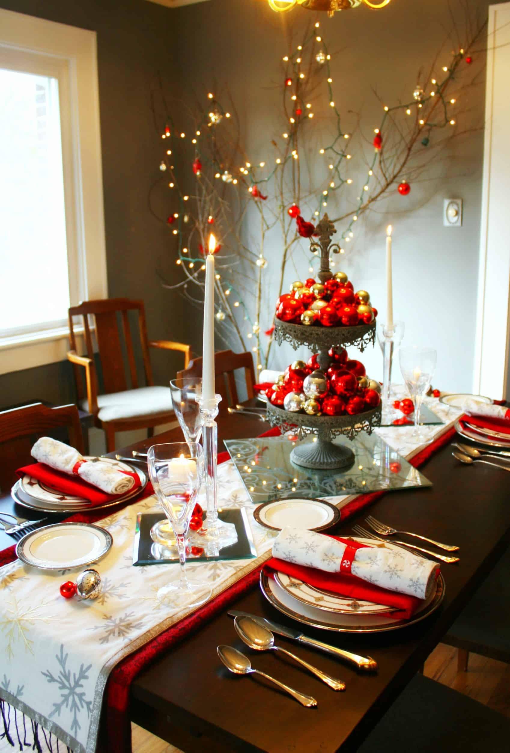 Christmas Dinner Table  20 Wonderful Christmas Dinner Table Settings For Merry