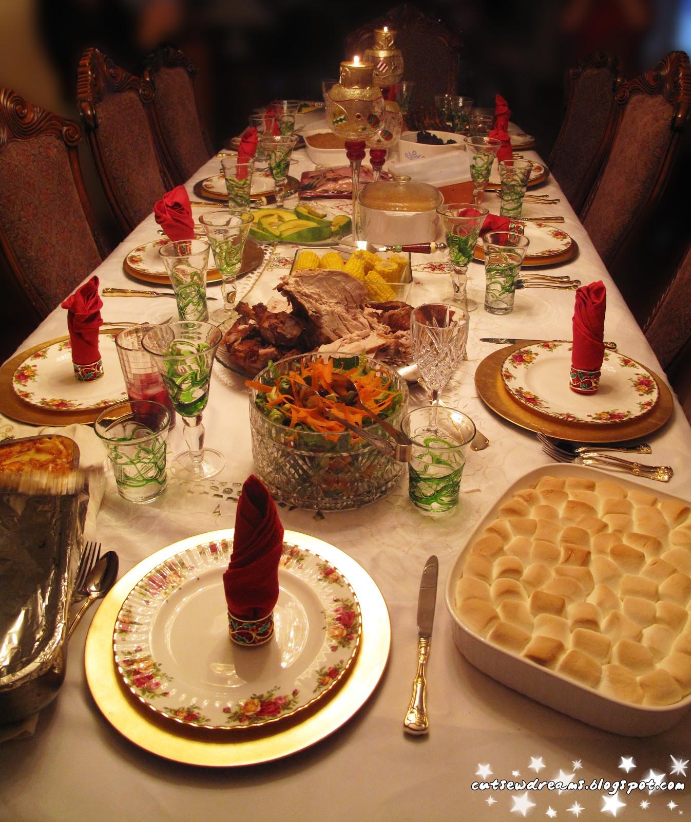 Christmas Dinner Table  CutsewDreams ・゚ Christmas Day