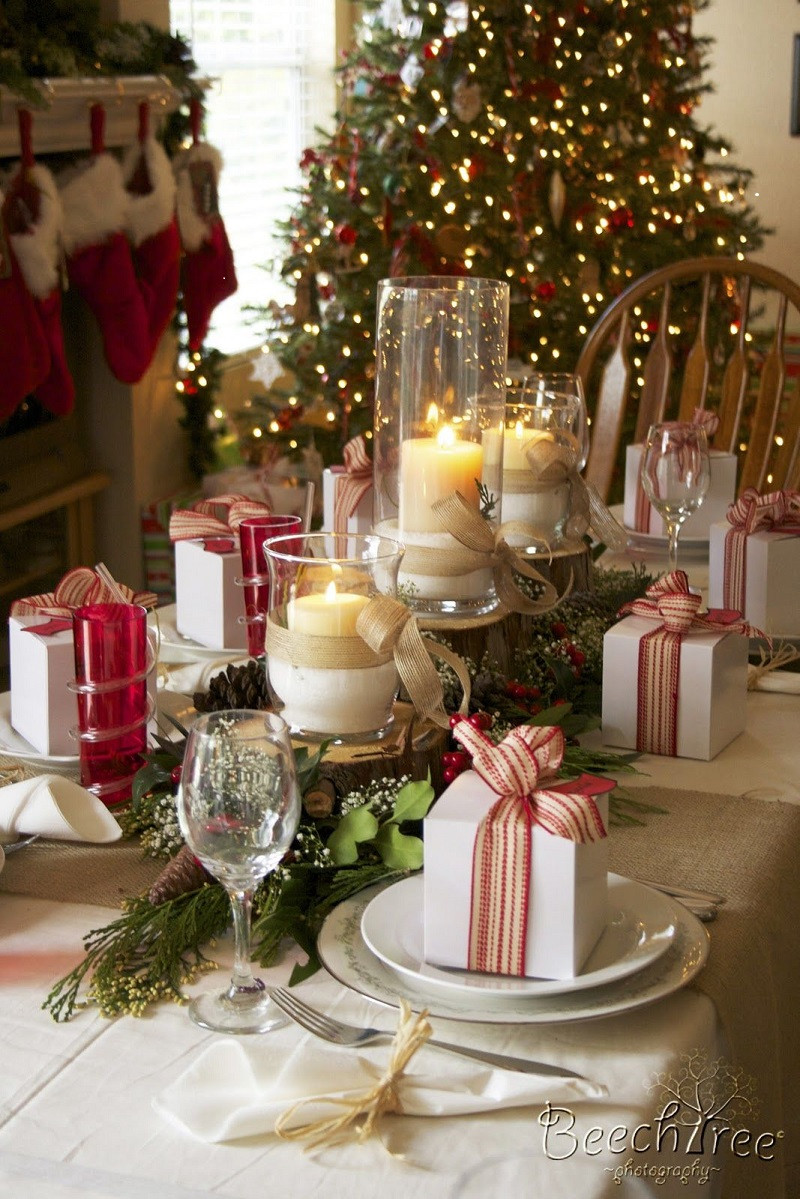 Christmas Dinner Table  40 Christmas Table Decors Ideas To Inspire Your Pinterest