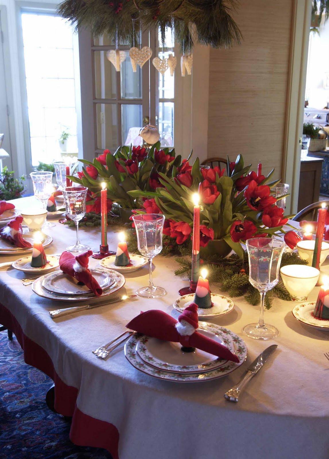 Christmas Dinner Table  5 Christmas Table Decorations