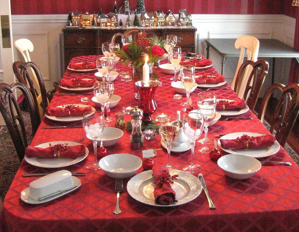 Christmas Dinner Table  Christmas Dinner Menu Recipe Ideas