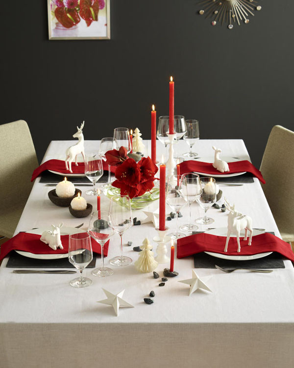 Christmas Dinner Table  Ideas to decorate your Christmas dinner table