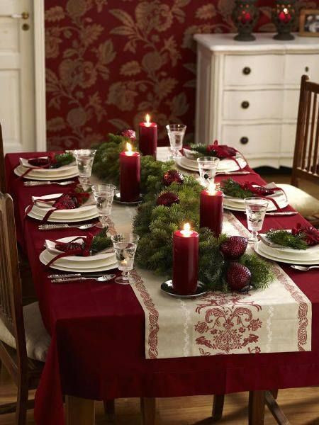 Christmas Dinner Table  25 best ideas about Christmas tables on Pinterest