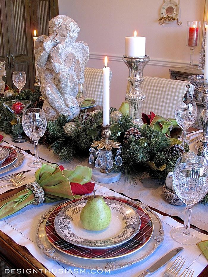 Christmas Dinner Table  Christmas Dinner Holiday Home Tour